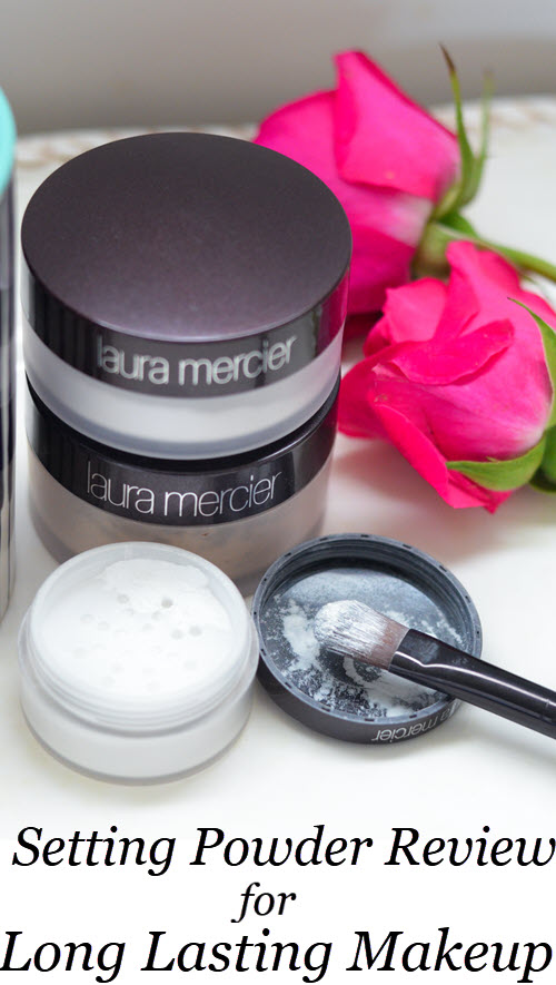 Laura Mercier Setting Powders Review, including Translucent Setting Powder, Invisible Setting Powder, and Secret Brightening Under Eye Powder. How to get long last makeup. #bbloggers #bblogger #beauty #beautyhacks #makeup #makeuptips #makeupguru #makeupjunkie #crueltyfree #beauty