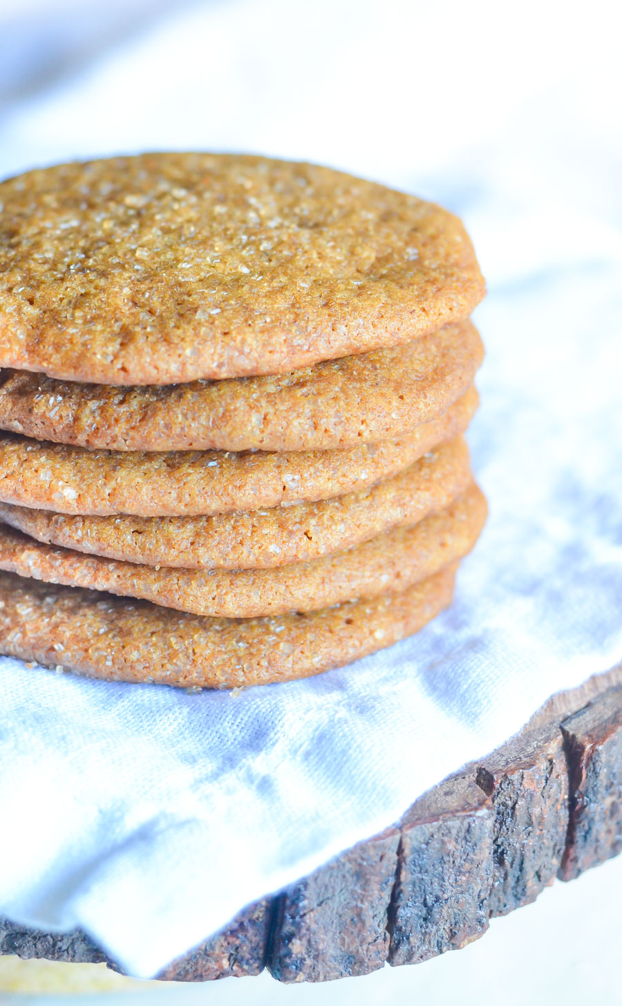 Soft Ginger Molasses Cookies w. Fresh Ginger