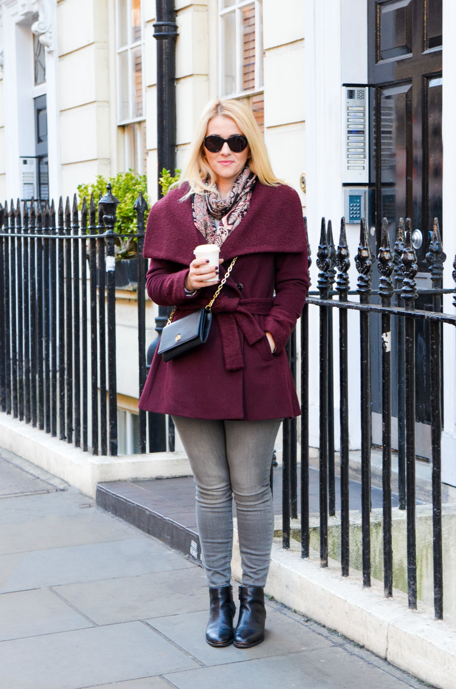 How to a Wear Wrap Coat - London Fashion Blogger Outfit