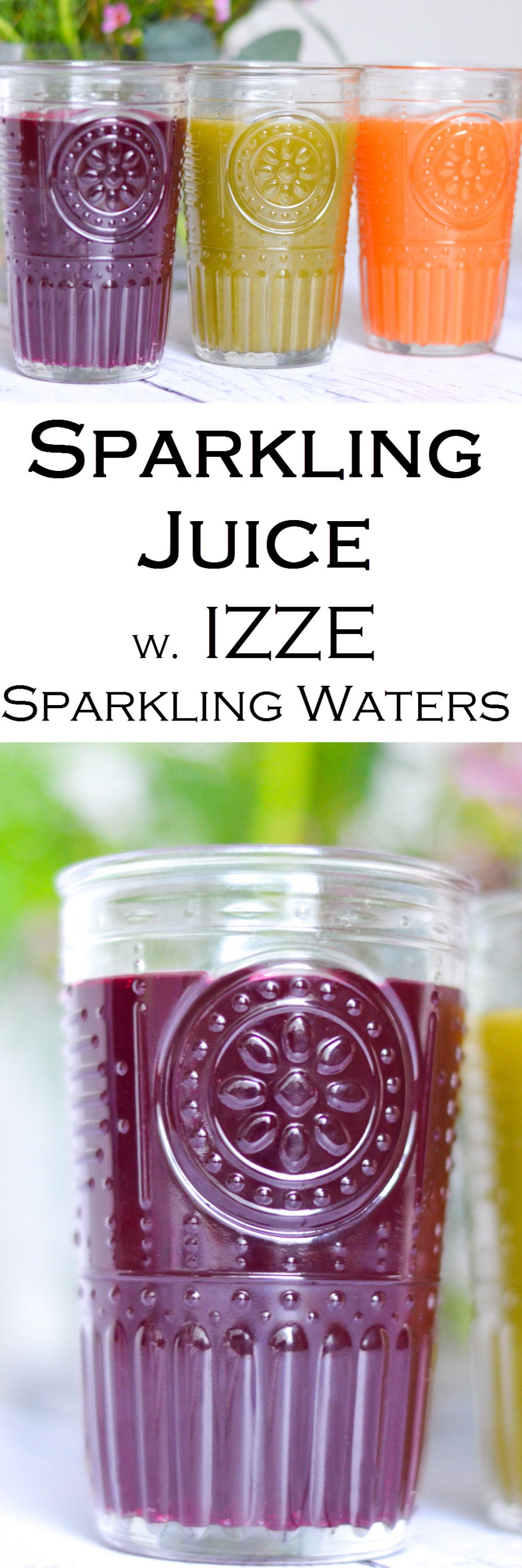 Sparkling Juice Recipe made with IZZE Sparkling Water Drinks