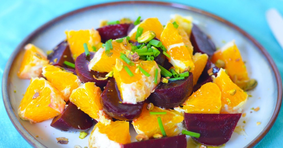 13 Healthy Holiday Side Dishes + Appetizers - Fresh Orange Salad w. Baby Beets + Olive Oil