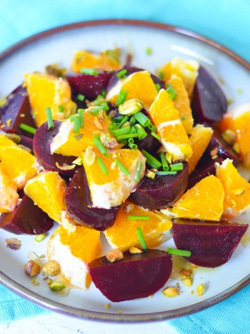 Fresh Orange Salad w. Baby Beets + Olive Oil