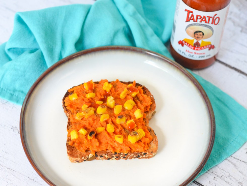 Mashed Sweet Potato Toasts - Corn