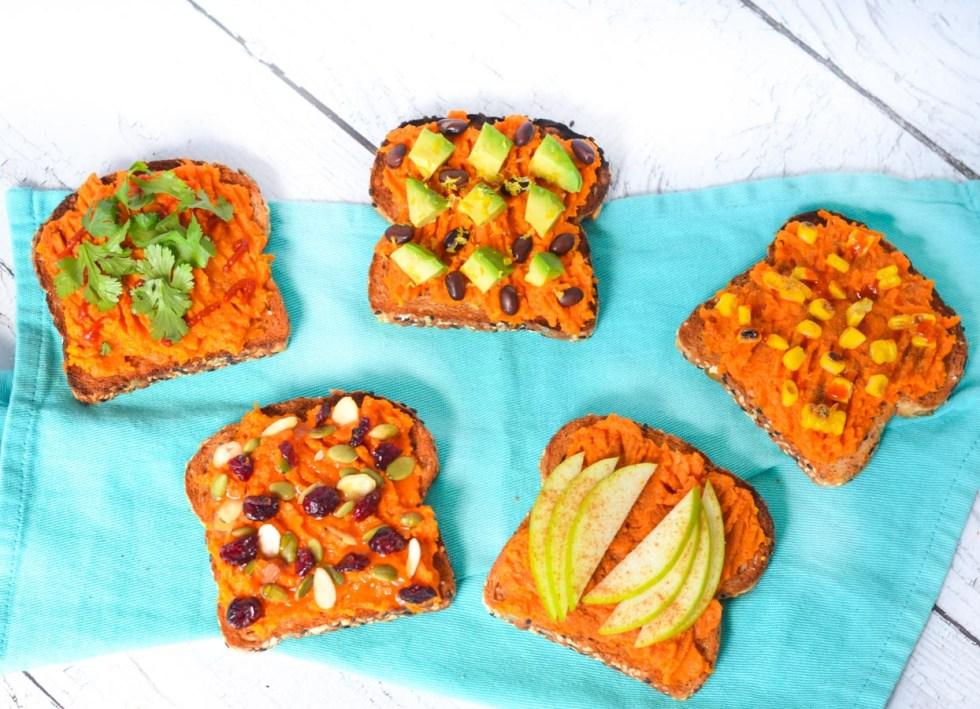 Mashed Sweet Potato Toast Toppings Ideas