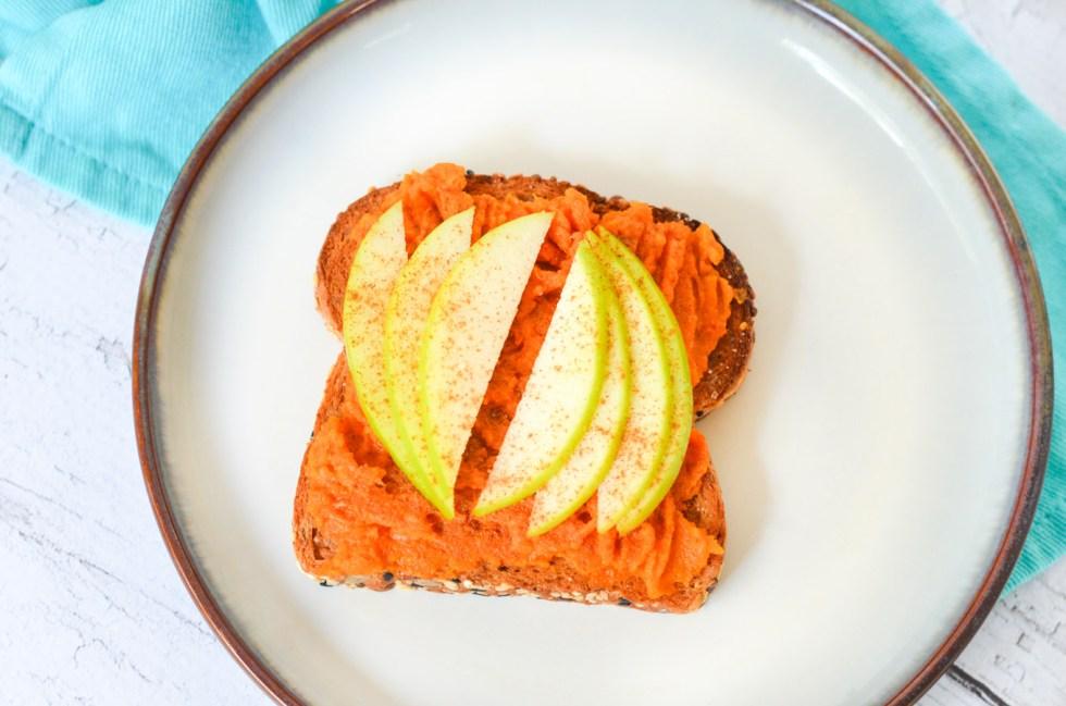 Mashed Sweet Potato Toasts - Apples
