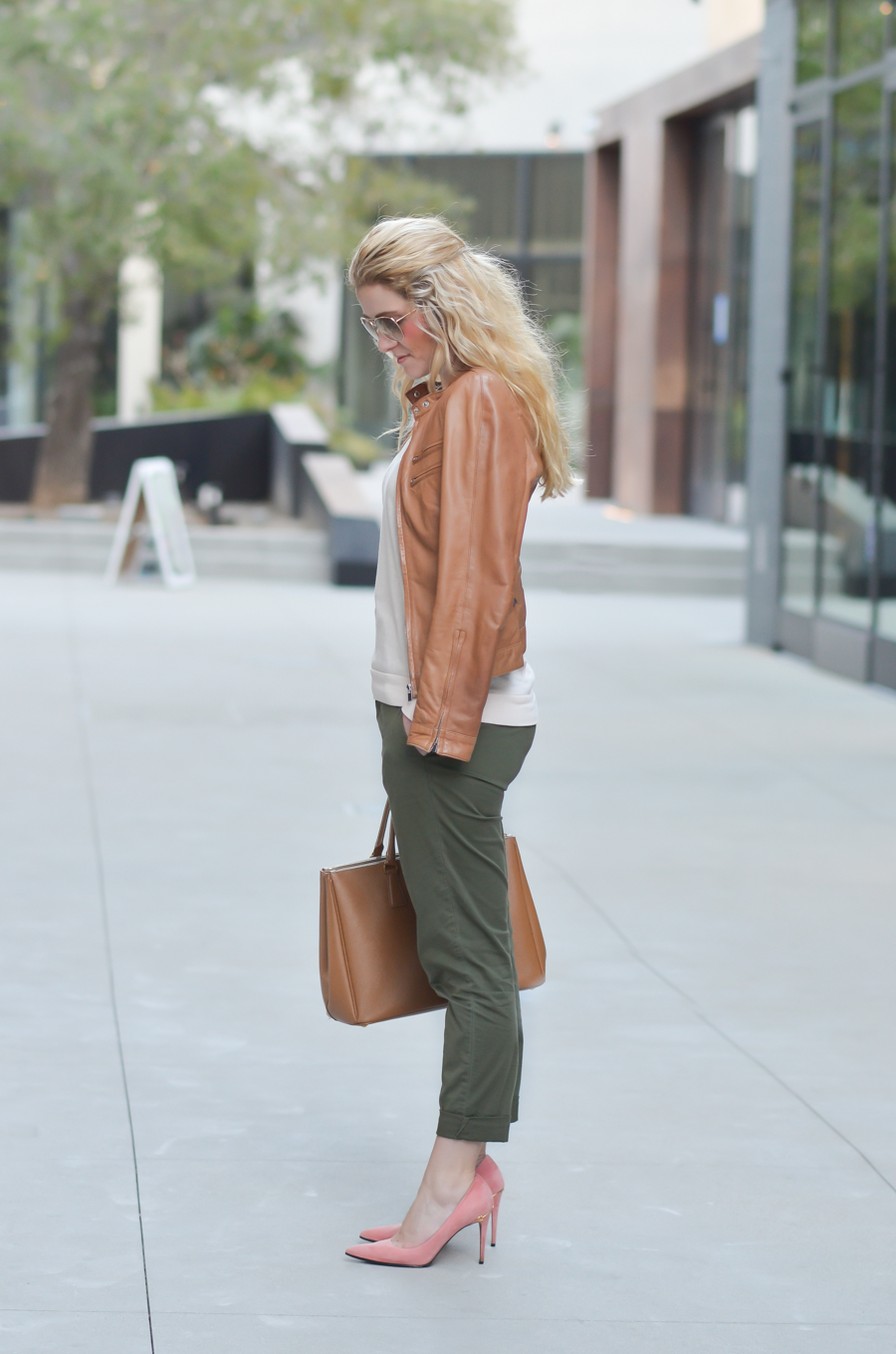 Tan Leather Jacket Outfit