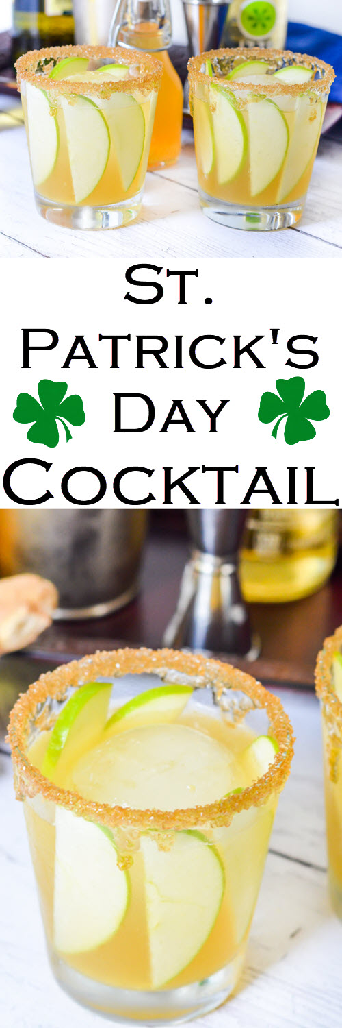 St. Patrick's Day Cocktail w. Green Apples SlicesEasy Fall, Winter drink and a perfect St. Patrick's Day Cocktail. #LMrecipes #cocktail #whiskey #whisky #bourbon #cocktailrecipe #mixology #bartender #stpatricksday #stpaddysday #partytime #apples #foodblog #foodblogger