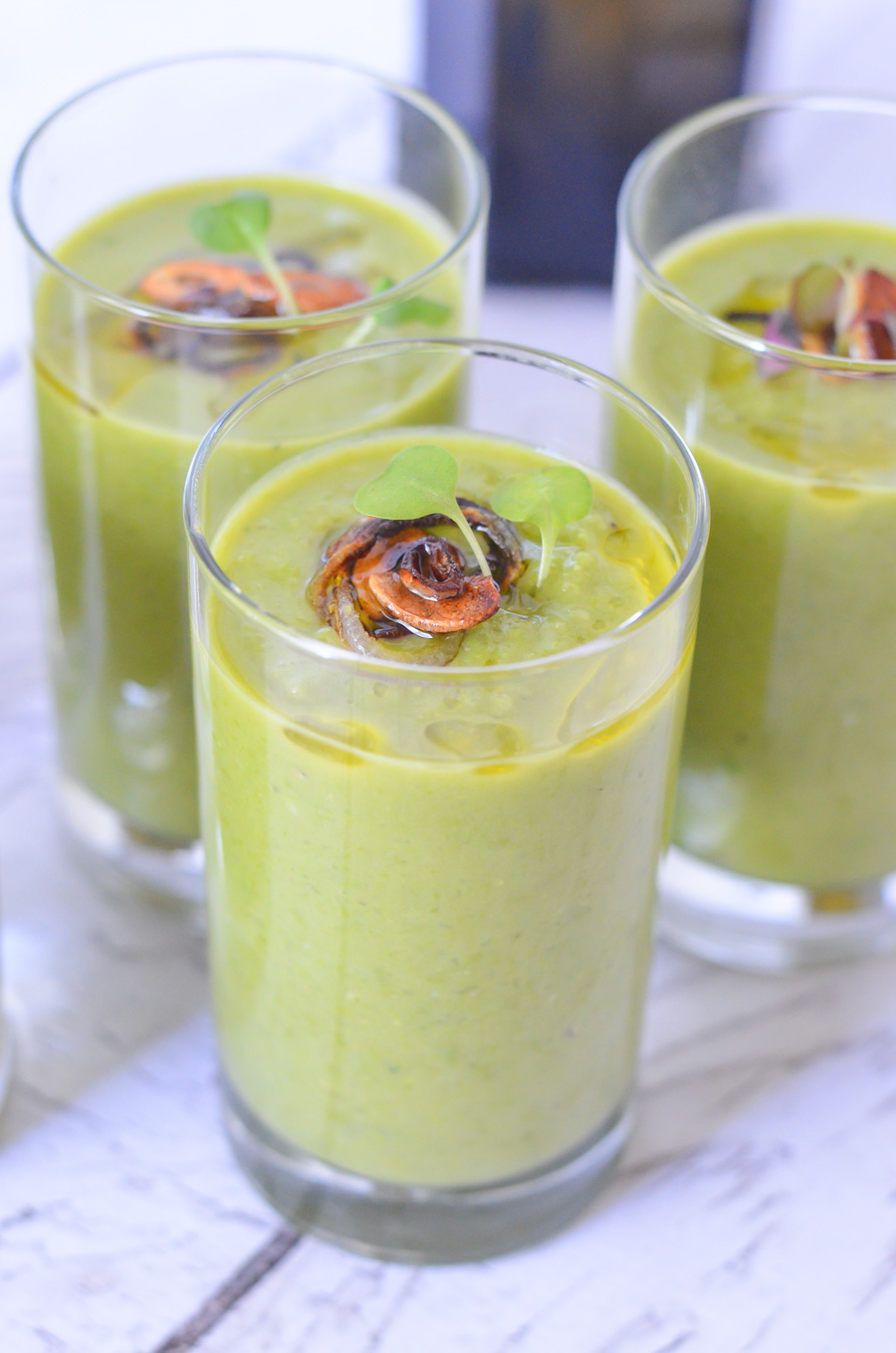 Quick + Easy Pea Soup Shooters without Ham - Vegan, Healthy