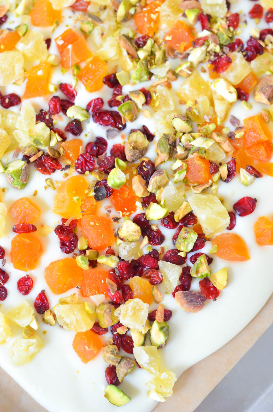 White Chocolate Bark w. Dried Fruit + Nuts | Luci's Morsels