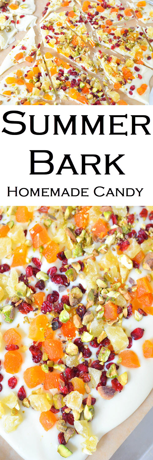 Summer Bark - Dried Fruit for Spring #LMrecipes #candy #chocolate #whitechocolate #homemade #dessert #easter #spring #summer #foodblog #foodblogger #recipe #driedfruit