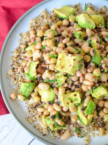 Avocado + White Bean Salad - Vegan Recipe