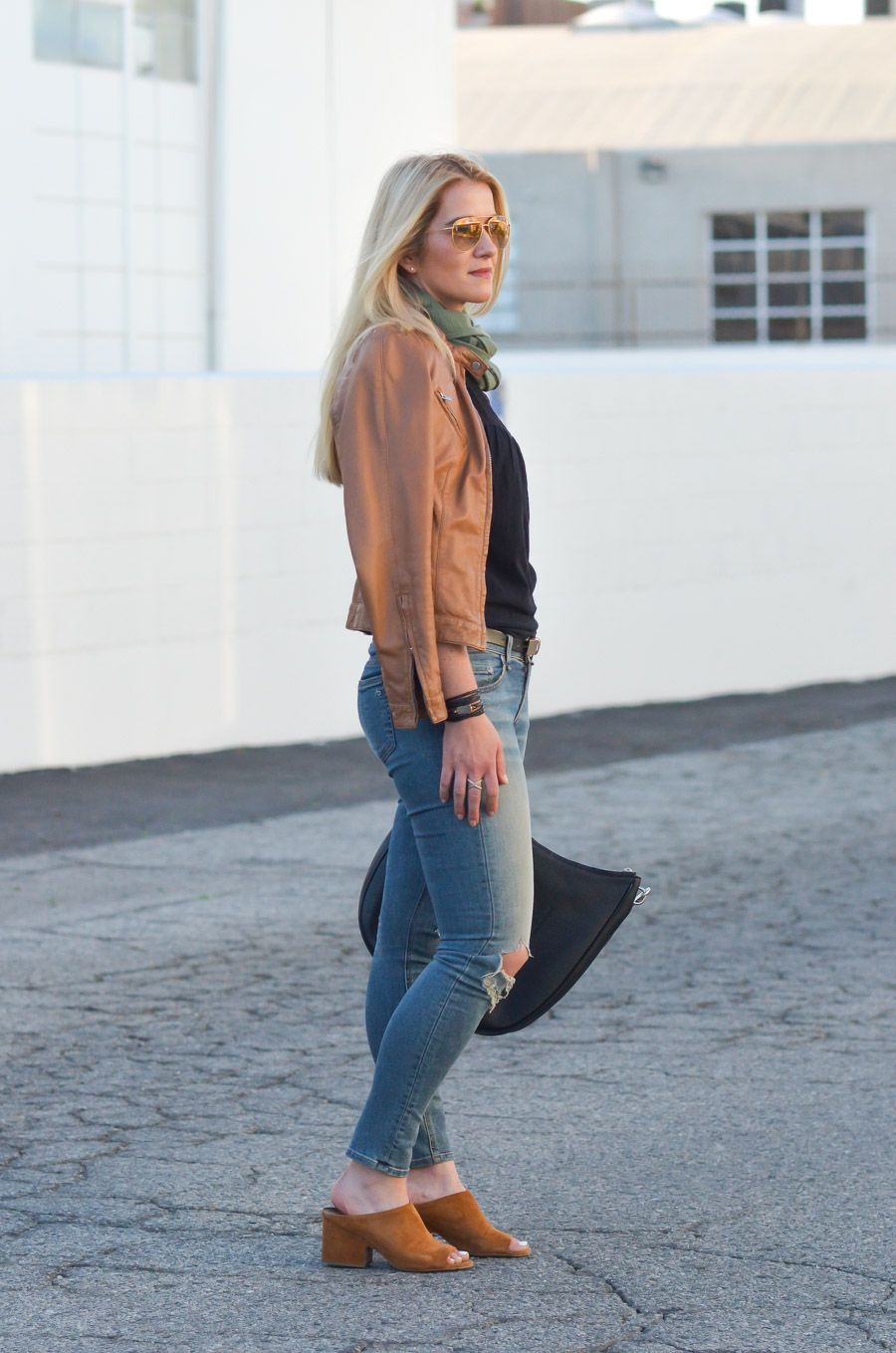 Ripped Skinny Jeans Leather Jacket Outfit Luci S Morsels