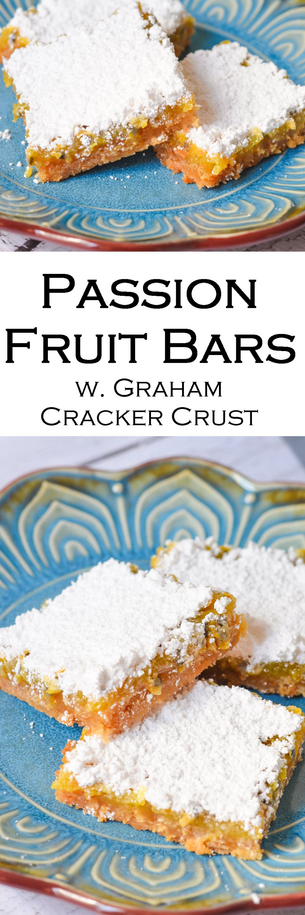Passion Fruit Bars w. Graham Cracker Crust