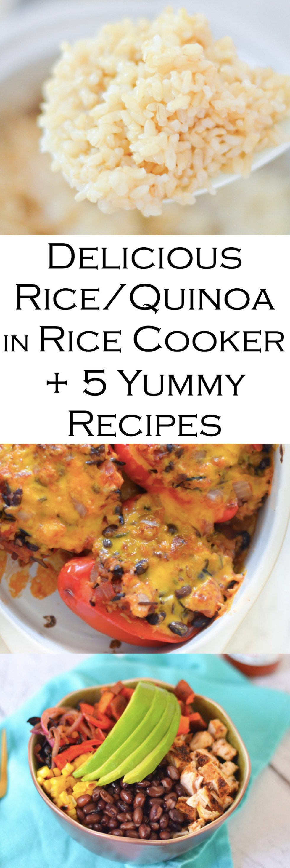 How to Make Rice and Quinoa in your rice cooker and 5 yummy rice and quinoa recipes.