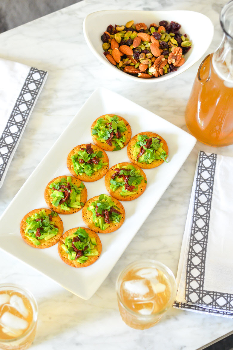 Sun-Dried Tomato + Avocado Crackers