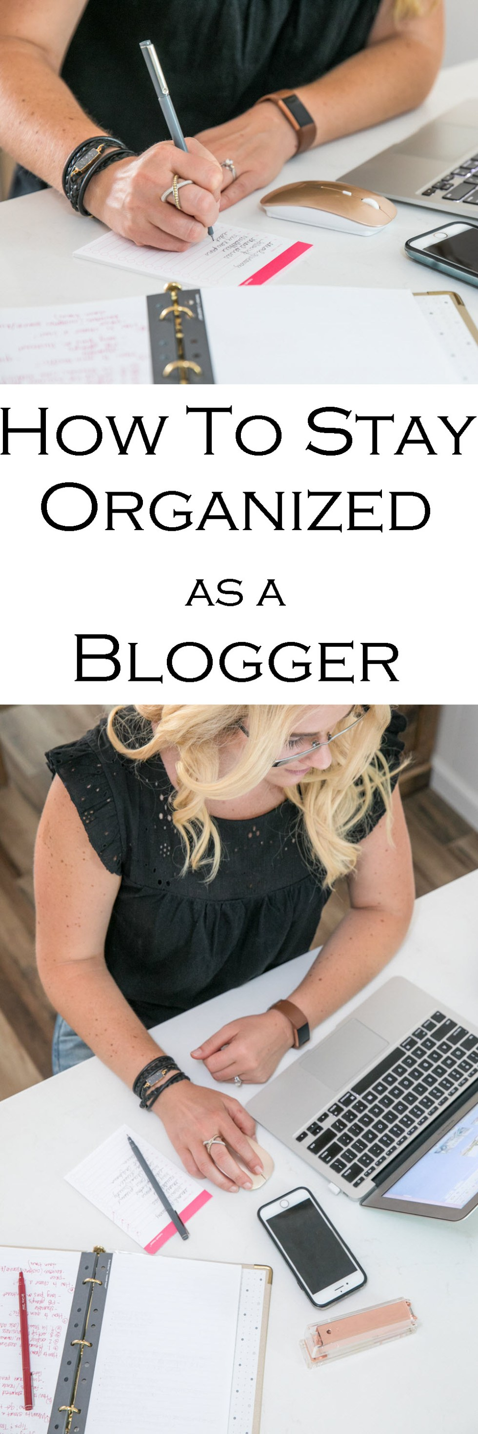 How to Stay Organized as a Blogger | Gold Binder Agenda - Russell + Hazel Mini Binder System Review