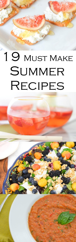 Must Make Summer Recipes w. Fresh Figs, Berries, Cherries, + Tomatoes