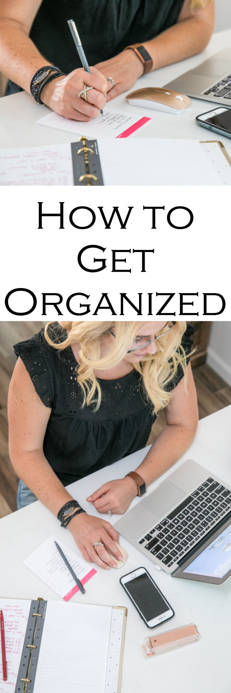How to Get Organized as a Blogger | Gold Binder Agenda - Russell + Hazel Mini Binder System Review