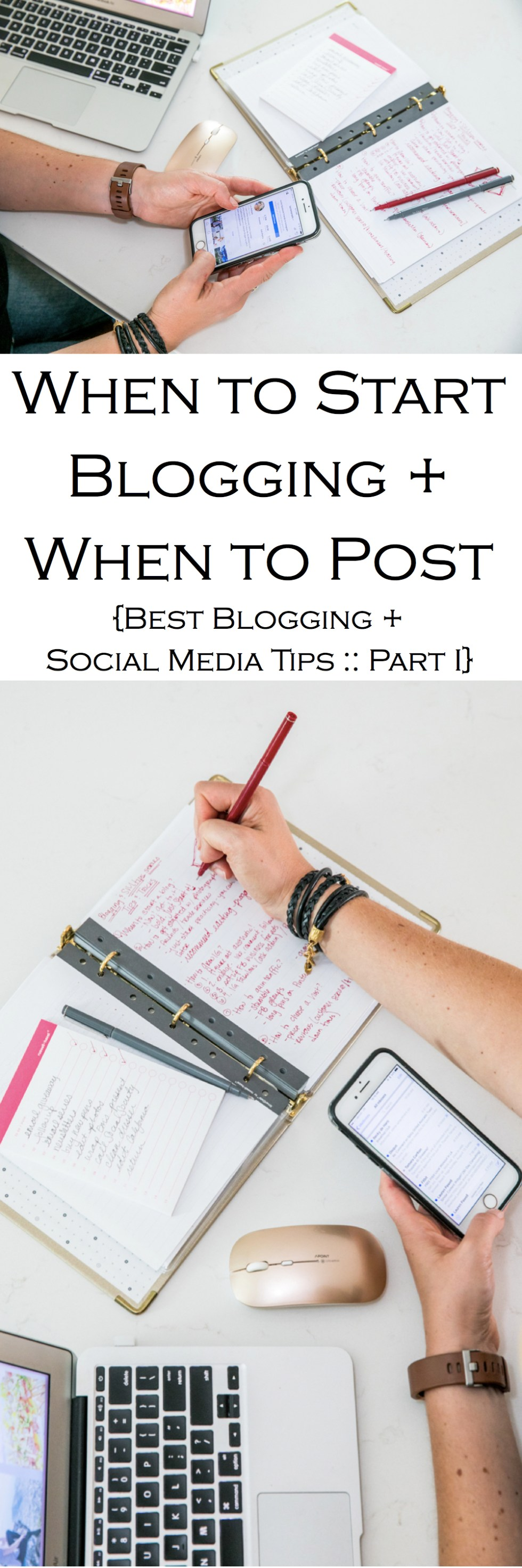 """Want to start a blog but don't know when? Part one of this """"Best Blogging + Social Media Tips Series"""" answers when you should start a blog and how often you should post!"""