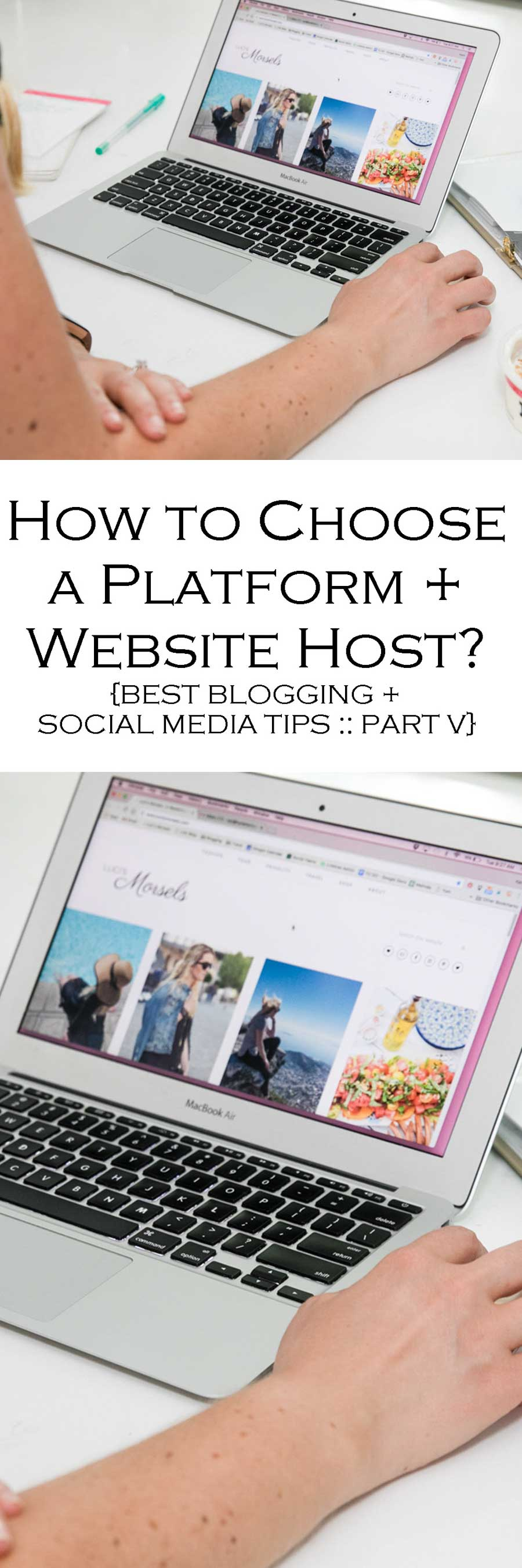 How to pick the best platform + host for your new blog. Best Blogging + Social Media Tips for new Bloggers and Small Businesses.