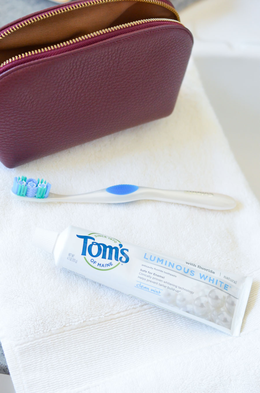 White Teeth after Aligners | Tom's Luminous White Toothpaste Review