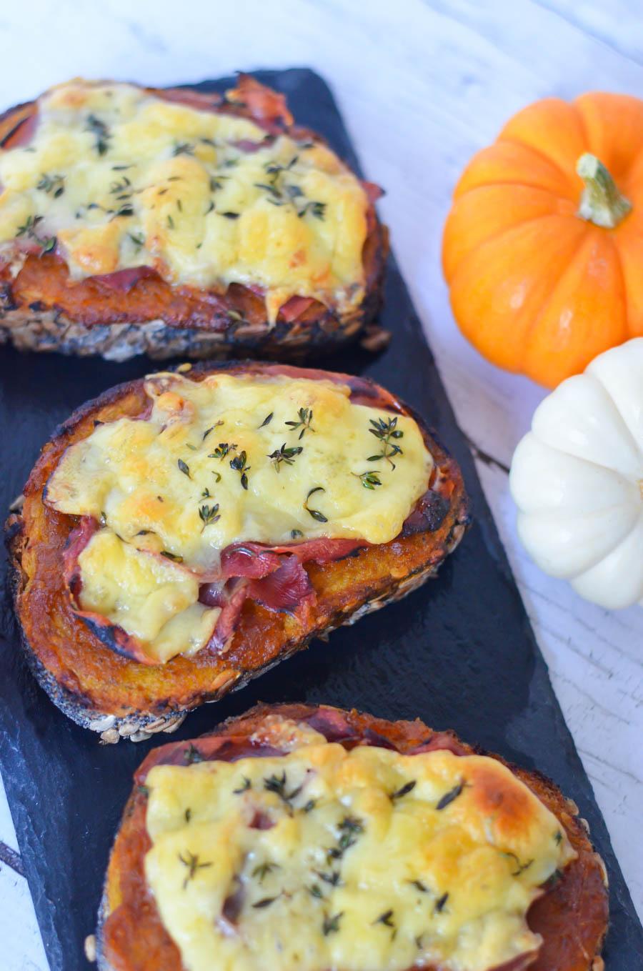 Pumpkin Butter Prosciutto Toast - Tartine w. Gouda Cheese Recipe