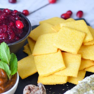 Cornbread Crackers Recipe - Thanksgiving Appetizer Board