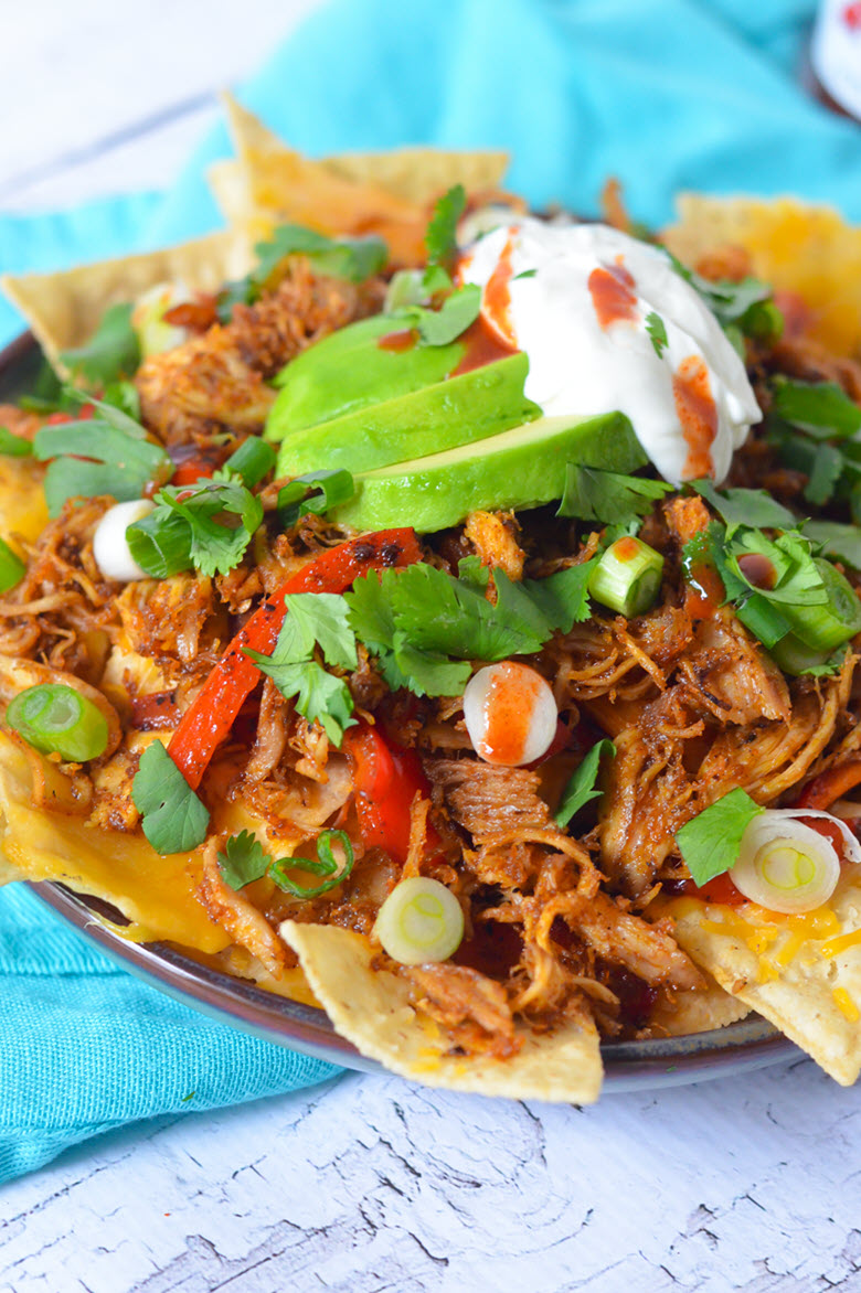 Leftover Turkey Carnitas Nachos