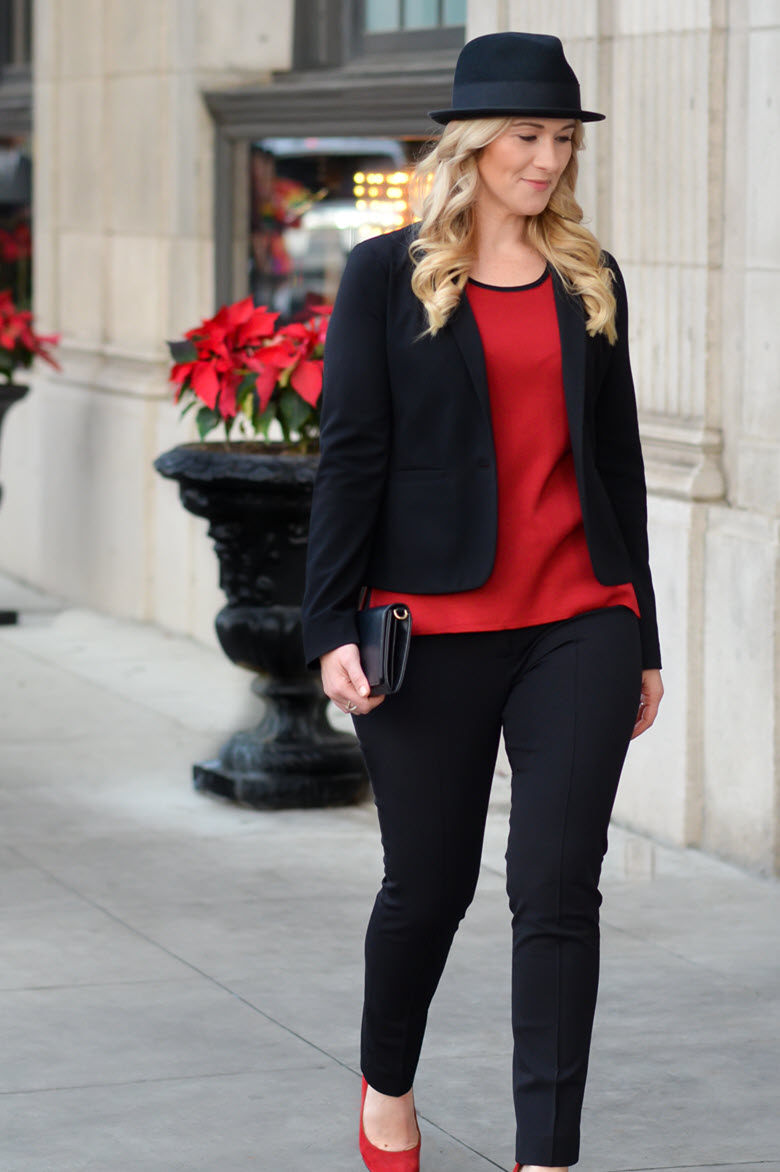 Red & Black Tailored Look | Misook Review