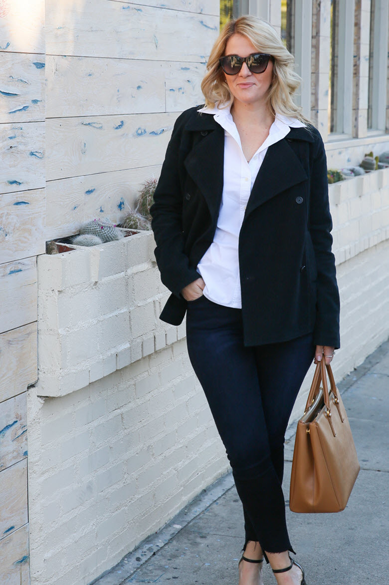 Venice Meetings | Black + Blue Work Outfit