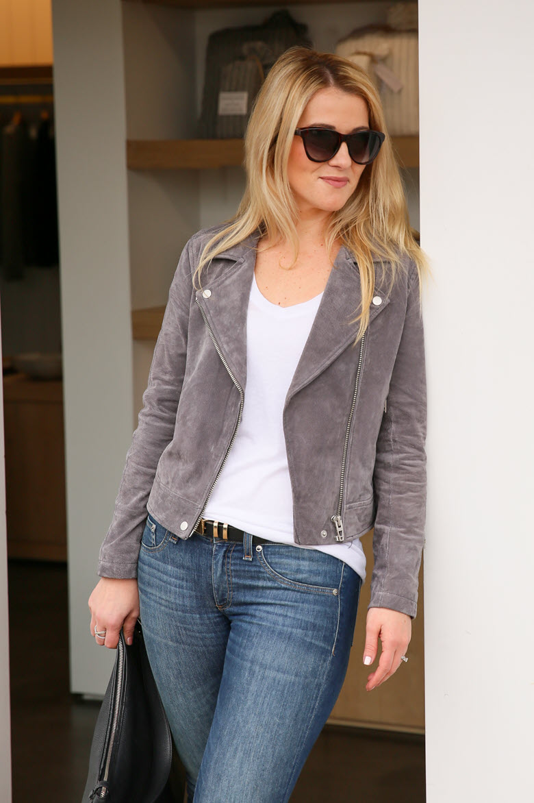 Grey Suede Moto Jacket + Some Love!