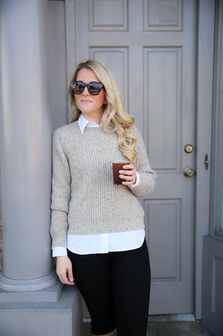 How to Layer Knit Sweaters
