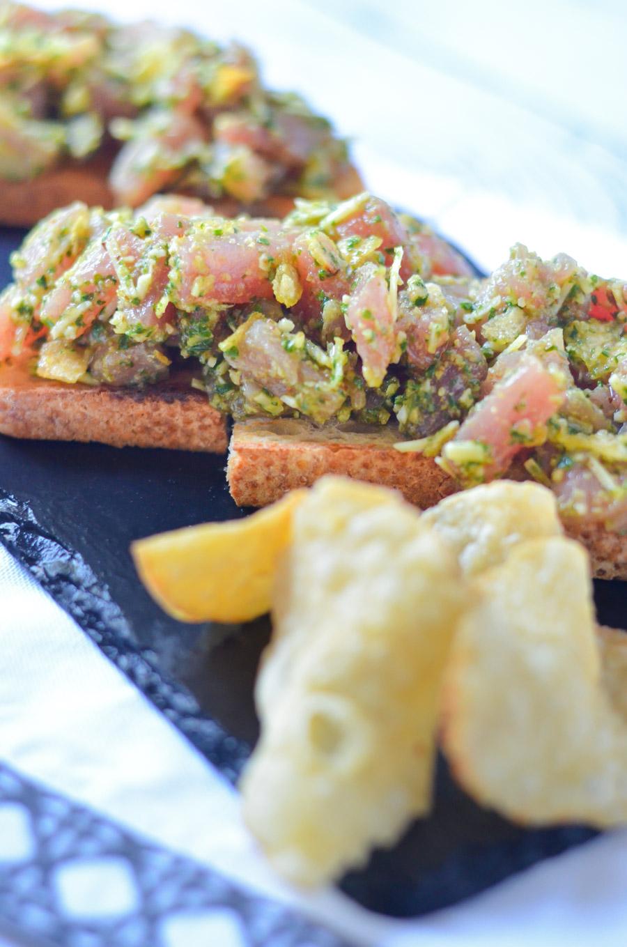 Tuna Tartare Toast Tartine - Zinque Cafe