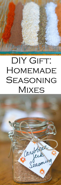 DIY Holiday Gift- Homemade Seasoning Mixes #recipes #spices #christmasgifts #christmasgift #seasonings #spicemixes #diygift #diyholidays #diyholidaygift #homemadegift #homemadegifts #giftguide #homesteading #holidays #LMrecipes