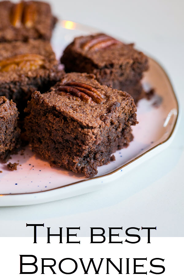 """This brownie recipe with cocoa powder makes the best brownies. An easy brownie recipe that's sure to win over anyone, these """"Disgustingly Rich Brownies"""" are slightly rich, slightly dense, and perfectly perfect!"""