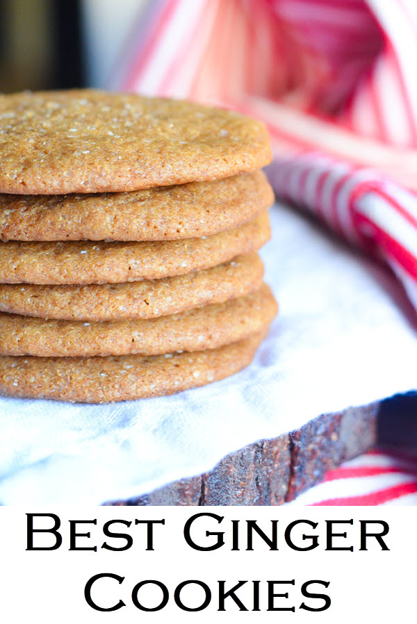 Best Ginger Cookies. Soft Ginger Molasses Cookies w. Fresh Ginger.