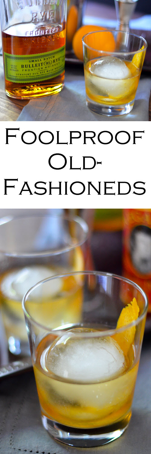 The Perfect foodproof Old-Fashioned recipe. The trick of how to Make Old-Fashioneds. Delicious, classic whiskey cocktail recipe at home.