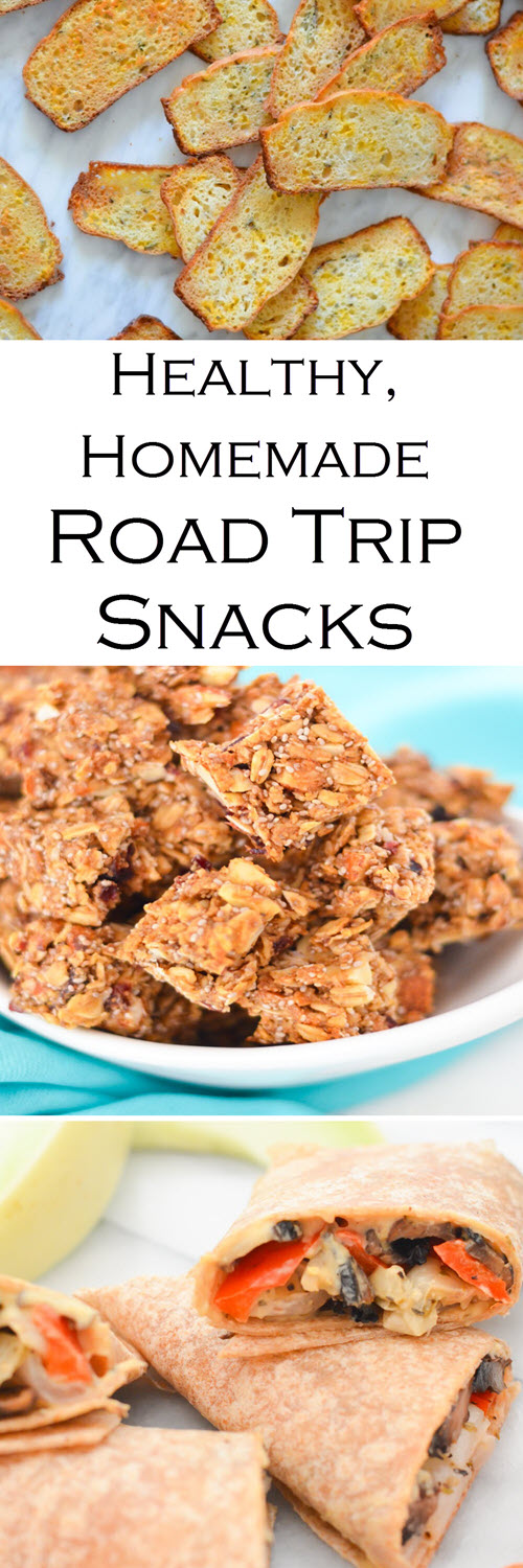 Healthy, Homemade Road Trip Snacks. Homemade Road Trip Snacks. Stay healthy on the road with these homemade on-the-go snacks.
