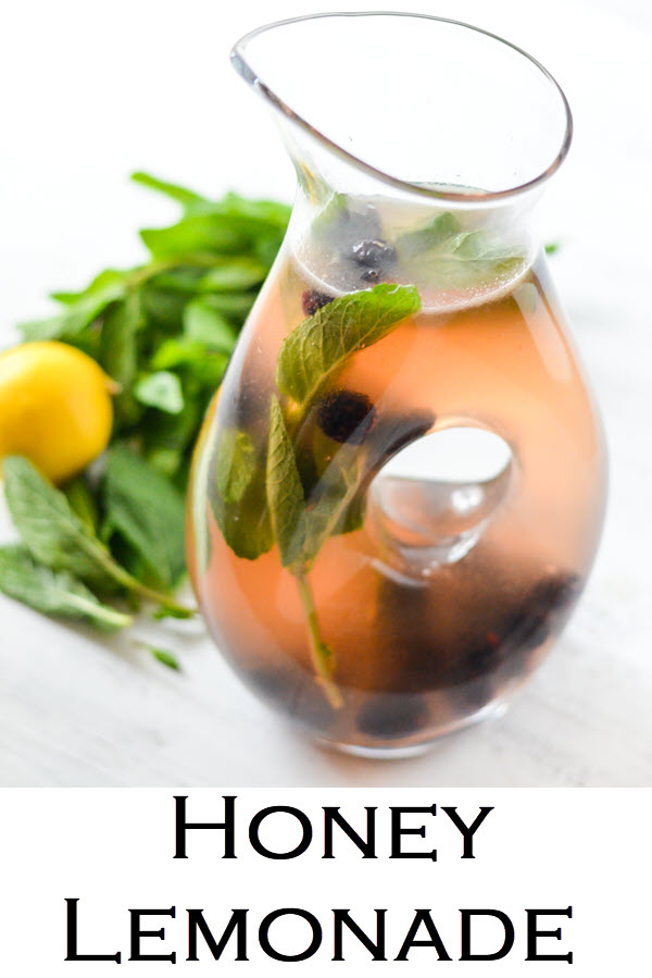 Honey Lemonade. Blackberry Honey Ginger + Mint Lemonade - Mint Drink Recipe