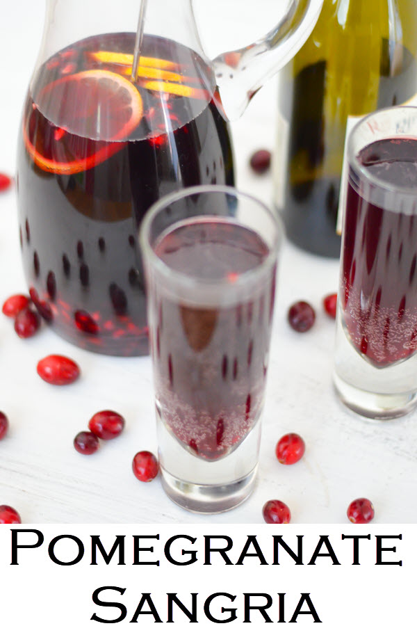 Pomegranate Sangria Recipe. A delicious red Christmas sangria with Lambrusco wine and pomegranates.