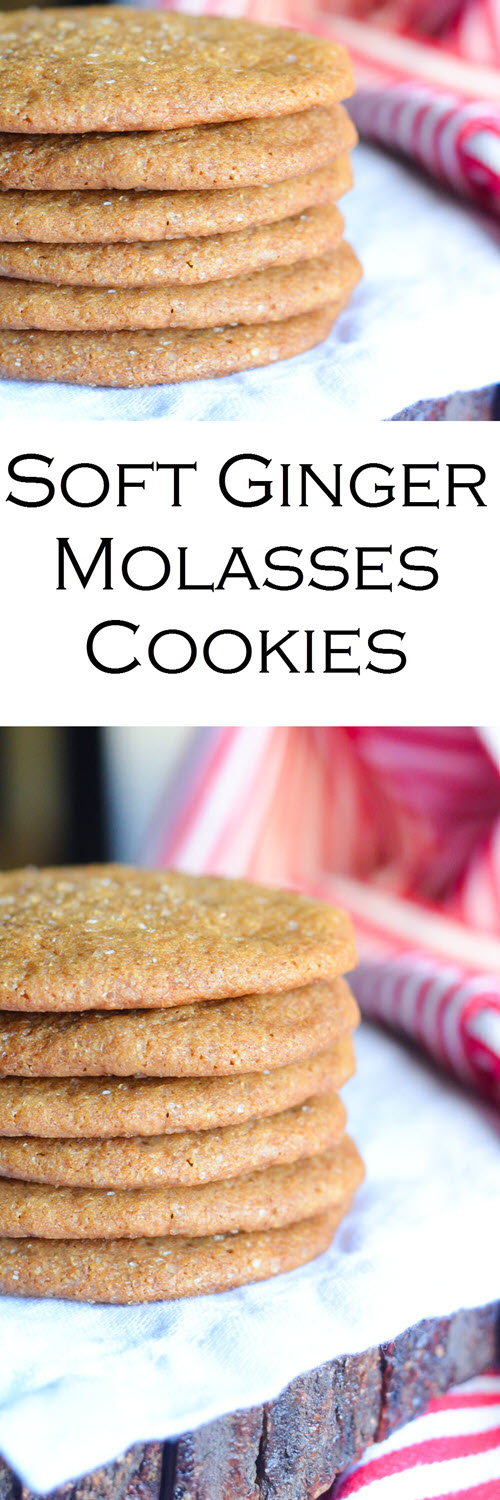 Soft Ginger Molasses Cookies w. Fresh Ginger.Soft Ginger Molasses Cookies w. Fresh Ginger.