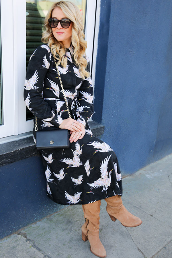 Layering Dresses for Cold Weather - How to Wear Thermal Tights. Outfit inspiration for fall, winter, and what to wear in the UK!