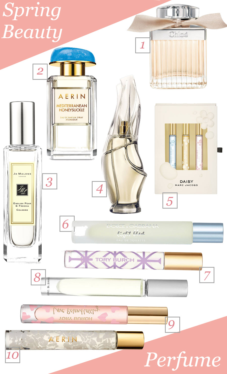 Best floral scents for spring. Great perfumes for women. Spring Beauty Must-Haves