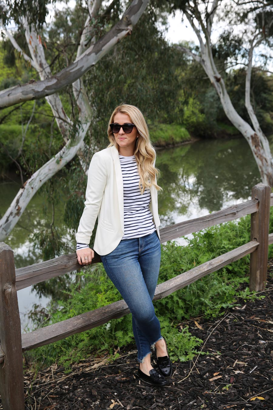 What to Wear in Wine Country - Striped Shirt + Jeans