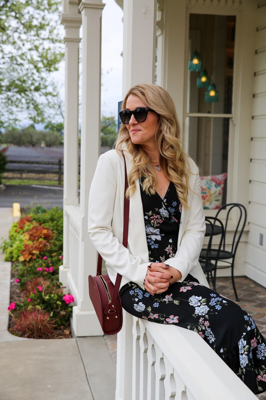 Wine Tasting Outfits - White Blazer and Dress Outfit