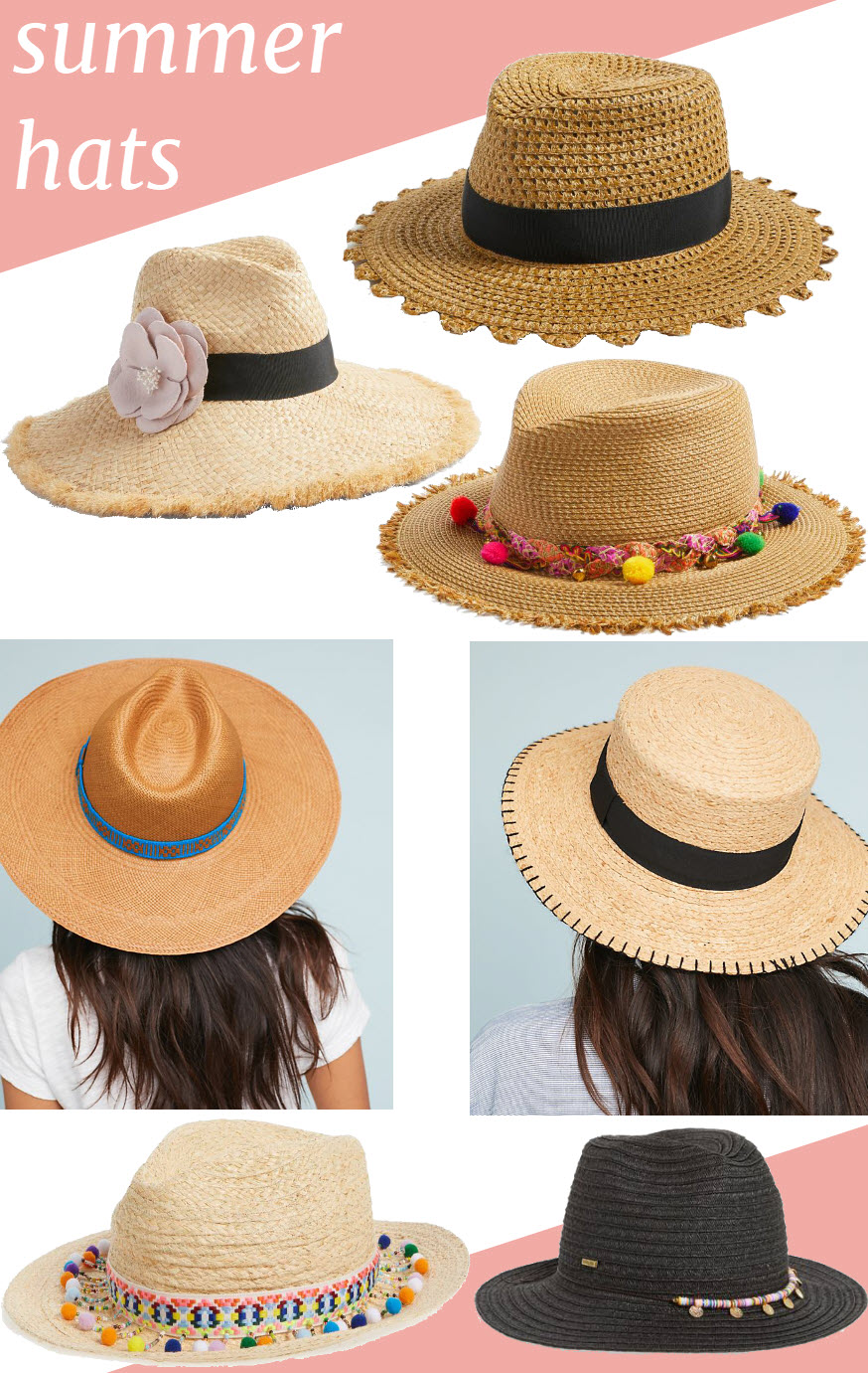 Summer Straw Hats for Women. WEar it with jean shorts or a sundress, these perfect summer accessories are the most versatile item in your closet this summer! #fashionblog #fashion #summer #summerstyle