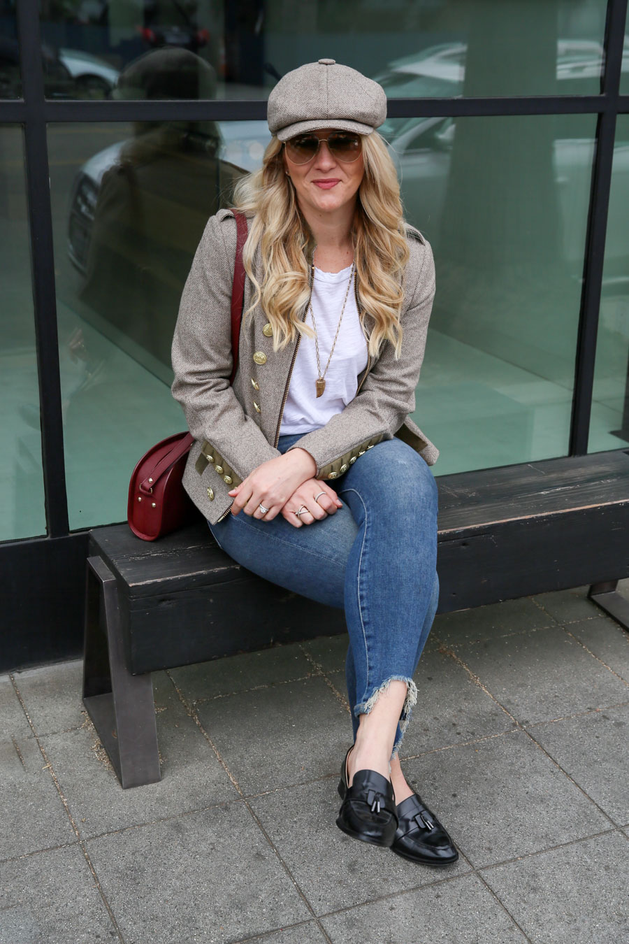 Brown Tweed Jacket Outfit with Jeans - Holland Cooper