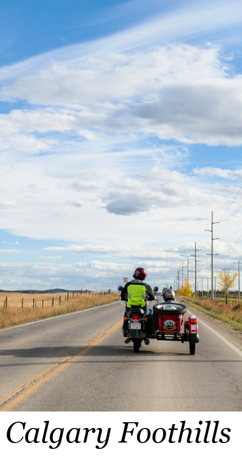 Canadian Rocky Mountain FOothills Sidecar Tour - Calgary, Alberta. Rocky Mountain Sidecar Tour - Calgary, Alberta. #canada #alberta #calgary #canadalife #rockmountains #travel #travelguide #tour #sidecars #sidecar #lpwroldtravels