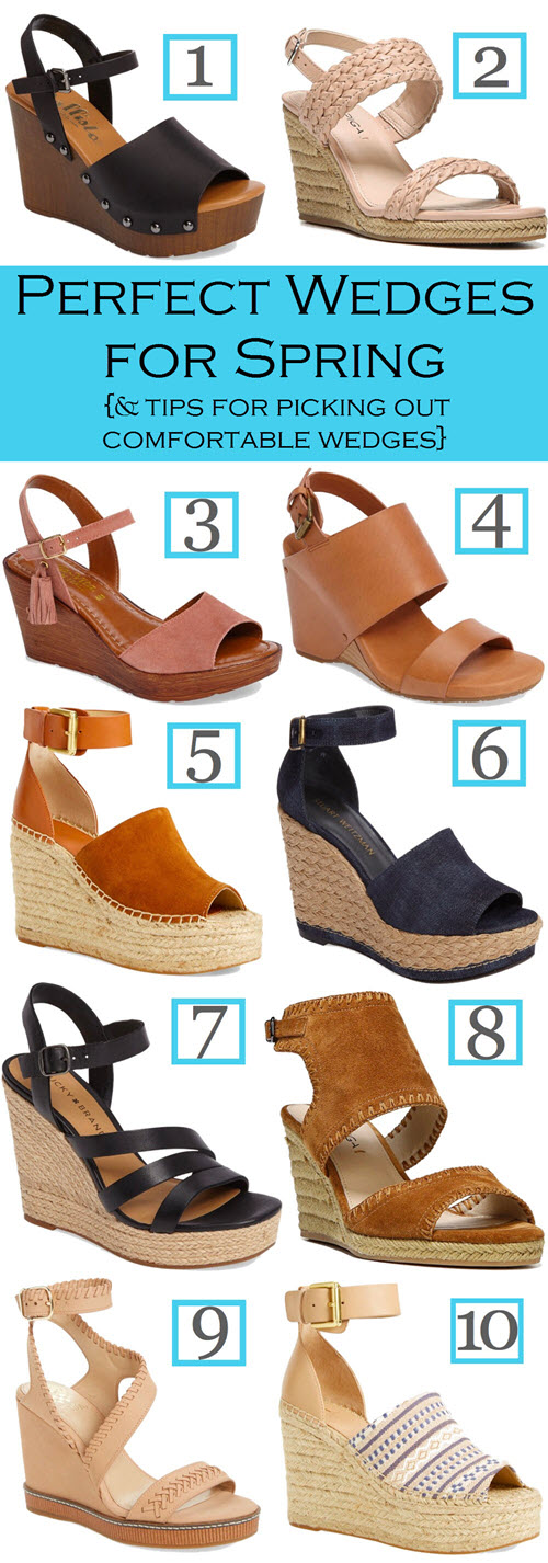 Cute Wedge Sandals for Summer. How to Pick out Comfortable Wedges and a Roundup of Cute Wedge Sandals for Spring #shoes #sandals #springstyle #summerstyle #womensfashion #womensstyle #ootdshare