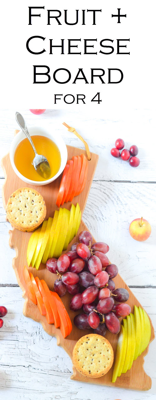 Fresh Fruit Appetizer Board for 4 People. 10 Minute Fast Cheese Board. Fresh Fruit Appetizer Board for 4 People. An easy starter for entertaining guests. This board is great to put out for guests when they arrive before food is ready! #entertaining #appetizer #vegan #dinnerparty #appetizer #foodblog